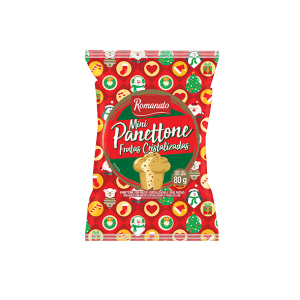 Mini Panetone Romanato Frutas Cristalizadas 80g