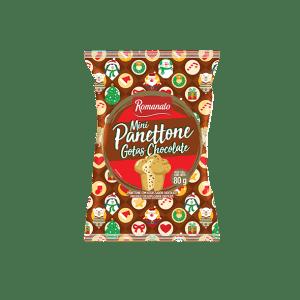Mini Panetone Romanato Gotas Chocolate 80g
