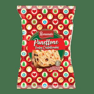 Panetone Romanato Flowpack de Frutas Cristalizadas 400g