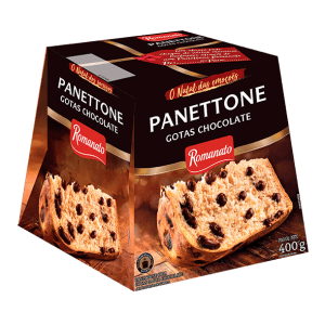 Panetone Romanato de Gotas Chocolate 400g