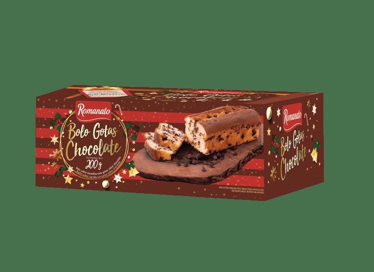 Bolo de Natal Gotas Chocolate 200g Romanato Lançamento