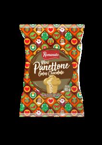 Mini Panetone Romanato Gotas sabor Chocolate 80g