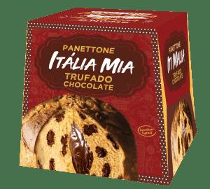 Panetone de Gotas Chocolate e Trufado Chocolate Itália Mia