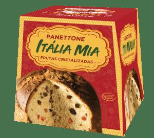 Panetone Itália Mia Frutas Cristalizadas 400g vegano