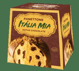 Panetone Itália Mia Gotas Chocolate 400g vegano