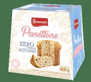 Panetone Zero Açucar Romanato Frutas Cristalizadas