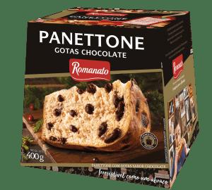 Panetone Romanato 400g Gotas Chocolate