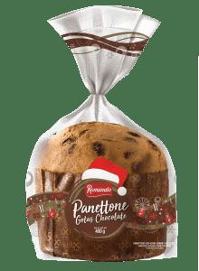 Panetone Polli Romanato 400g Gotas sabor Chocolate